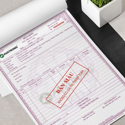 In hóa đơn bán lẻ tại Hà Nội