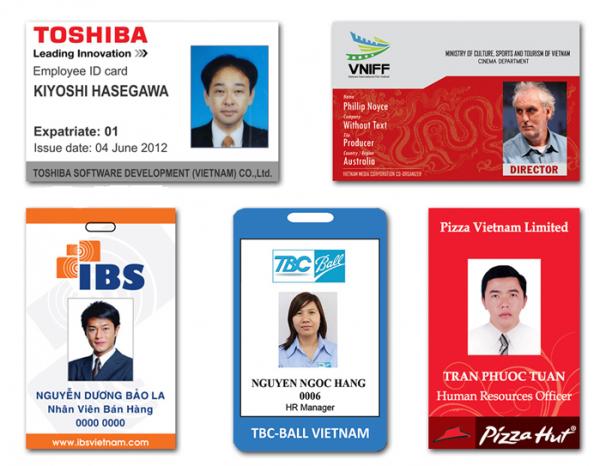 In thẻ nhân viên giá rẻ tại Công Ty TNHH Thương Mại MVT Việt Nam